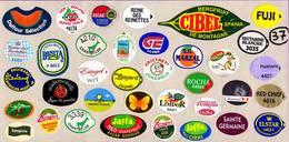 Etiquettes De Fruits °_ Toutes Différentes Sur Papier Siliconé-feuillet N° 37 - Fruits Et Légumes
