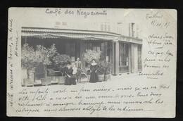 "Tullins Fures ( Isère ) 1907 . Café Des Négociants . ( Un Peu "" Usée "") - Tullins"