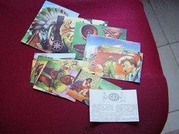 Lot Chromos Images Vignettes Timbres Spirou *** Far West *** - Albums & Catalogues