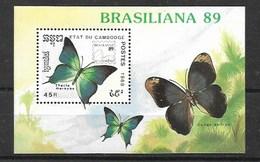 CAMBODIA  1989 Butterflies MNH - Butterflies