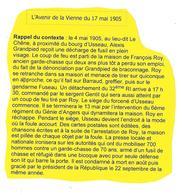 Superbe Collection Complète (17 Cpa) Sur Le CRIME D'USSEAU De Mai 1905 (Thème Chasse-braconnage) - Chasse