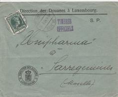 Luxembourg Lettre De Service Pour La France 1934 - 1926-39 Charlotte Rechterzijde