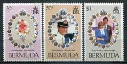 Bermuda Mi# 401-3 Postfrisch MNH - Diana And Charles Wedding - Bermuda