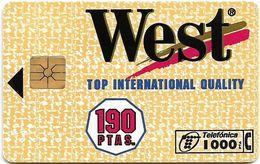 Spain - Telefónica - Tobacco West 190PTAS - P-117 - 03.1995, 14.100ex, Used - Spanien