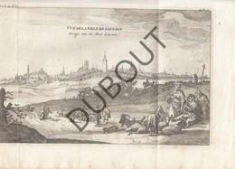 Originele Kopergravure Vue De La Ville De LOUVAIN -  Gezicht Van De Stad LEUVEN-  18de Eeuw  (J100) - Documentos Históricos