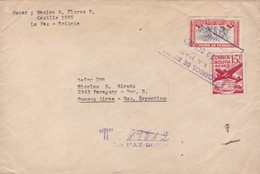BOLIVIA CIRCULATED ENVELOPE 1931. LA PAZ TO BUENOS AIRES, ARGENTINA. REGISTERED BY AIRMAIL -LILHU - Bolivie