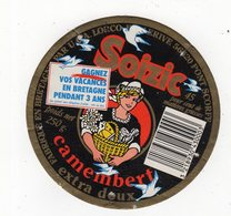 Fev20   56002  A    étiquette  Camembert Soizic Gagnez Vos Vacances - Formaggio