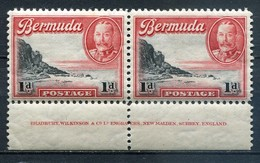 Bermuda Mi# 90 Inscriptional Pair Postfrisch MNH - Sigths - Bermuda