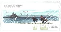 Bloc Souvenir Neuf   Jeux Equestres Mondiaux FEI 2014 En Normandie (4894) (4895)  BS 97 - Souvenir Blocks & Sheetlets
