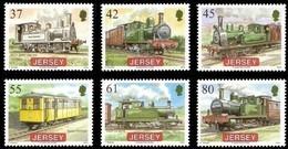 Jersey 2009 Yvertn° 1480-1485  *** MNH Cote 14 € Chemin De Fer Treinen Railways - Jersey