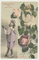 Langage Des Fleurs - La Rose,beauté, Fraicheur.....phototypie Bergeret - Bergeret