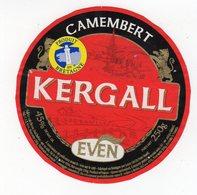Fev20   56023     étiquette  Camembert   Kergall  Produit En Bretagne Even En Bas - Formaggio