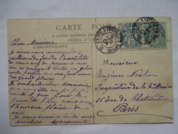 CONVOYEUR  CETTE  A  TARASCON  RAPIDE  B    -     CETTE         PLIURE - Marcophilie (Lettres)