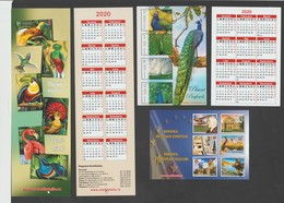 ROMANIAN  2020 - 3 Different Small Calendars-  Romfilatelia-stamp Issues   7 X 10 Cm And 6 X 19 Cm - Calendriers