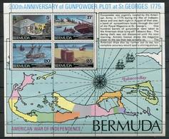 Bermuda Mi# Block 3 Postfrisch MNH - Maps Ships - Bermuda