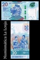 Hong Kong 20 Dollars HSBC 2018 (2019) Pick New SC UNC - Hongkong