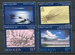 Bermuda Mi# 467-70 Postfrisch MNH - Space Halley's Comet - Bermuda