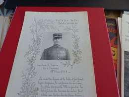 Bulletin De La Petite Verrière, Saône Et Loire, Mars 1914, Capitaine Repoux, Tué à L'ennemi - Documents Historiques