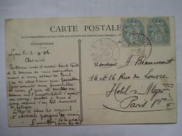 CONVOYEUR   LYON   A  PARIS  B    -    COUZON                    TTB - Marcophilie (Lettres)