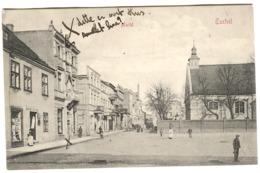 TUCHEL - MARKTPLATZ MIT LEBEN UND GESCHÄFT Von JACOB JACOBY Um 1908 - Westpreussen
