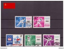 URSS 1964 - Oblitéré - Jeux Olympiques - Michel Nr. 2866A-2870A Série Complète (urs1340) - 1923-1991 UdSSR
