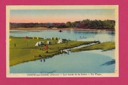 58 - COSNE SUR LOIRE - Les Bords De La Loire - La Plage - Cosne Cours Sur Loire