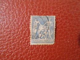 FRANCE YT79 TYPE SAGE 25c. Bleu TYPE II Cachet à Date - 1876-1898 Sage (Type II)