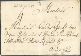 LAC (griffe Au Tampon) MALINES :  Le 11/11/1749 (H.10-) Vers Gand; Port Dû '4'.  Belle Fraîcheur.  Vente Baeten 146 (nov - 1714-1794 (Austrian Netherlands)
