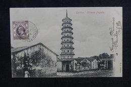 HONG KONG - Affranchissement Plaisant En 1904 Sur Carte Postale Pour La France - L 51957 - Hong Kong (...-1997)