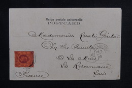 HONG KONG - Affranchissement Plaisant En 1903 Sur Carte Postale Pour La France - L 51958 - Hong Kong (...-1997)