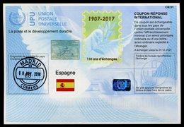 "ESPAGNE  ""110 Ans""   International Reply Coupon / Coupon Réponse International - Entiers Postaux"