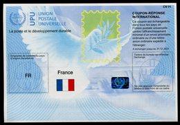FRANCE  International Reply Coupon / Coupon Réponse International - Postwaardestukken
