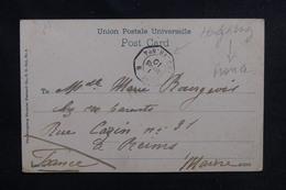 "FRANCE - Oblitération "" Ligne N Paq. FR N°4 "" Sur Carte Postale De Hong Kong En 1910 - L 51960 - Marcophilie (Lettres)"