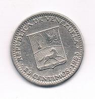 25 CENTIMOS  1965 VENEZUELA /826/ - Venezuela