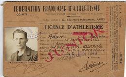 Carte  Licence D'athletisme  1943 - Leichtathletik