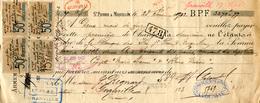 Granville. Saint-Pierre Et Miquelon. Lettre De Change De La Banque Des Iles à Jacques Regnard, Armateur à Granville. - Bank & Insurance