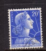 FRANCE FRANCIA 1955 1959 MARIANNE MARIANNA ALLA NEF 20f USATO USED OBLITERE' - 1959-60 Marianne (am Bug)