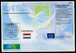 "LUXEMBOURG  ""145 Ans""  International Reply Coupon / Coupon Réponse International - Ganzsachen"