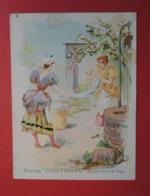 Très Joli Chromo Thème EGYPTE.  Poudre EGYPTIENNE.  Pour Lustrer Le Linge.Cothenet-Tardy à Rouen. Puits.Blanchisseuse - Vieux Papiers
