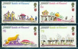 1970 Battle Of Flowers Festival,Lobster,Ostrich,mouse,mushroom,Jersey,30,MNH - Straussen- Und Laufvögel
