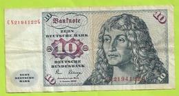 BILLET ALLEMAGNE 10 MARK 1980 N070 - 10 Mark