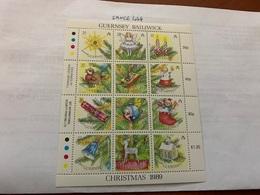 Guernsey Christmas M/s Mnh 1989 - Guernsey