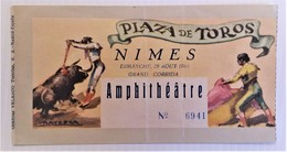 TAUROMACHIE CORRIDA NIMES 29 Aout  1965 - Biglietti D'ingresso