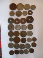 Lot African Colonies 35 Coins (4 Silver) - Coins & Banknotes