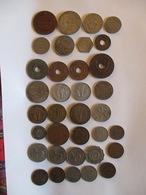 Lot African Colonies 35 Coins (4 Silver) - Vrac - Monnaies