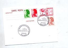 Carte Postale Philex Jeune + Gandon Cachet Mulhouse Salon - Enteros Postales
