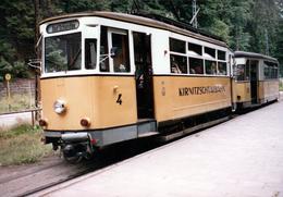 Photo Couleur Originale Train & Tramway - Ligne 4 & 21 Bad Schandau - Kirnitzschtalbahn 1980's - Treinen