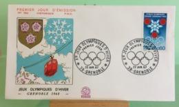 Jeux Olympiques D'hiver - 38 Grenoble - 22.4.1967 -FDC 1er Jour -Coté 2,00€ - 1960-1969