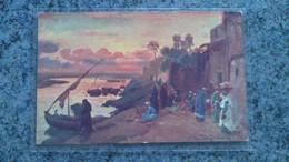 CPA - 140 - UN SOIR AUX BORDS DU NIL  ( EGYPTE ) - Cartes Postales