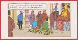 """CPM Tintin Au Tibet. Carte Imprimée à L'occasion De L'exposition """"Au Tibet Avec Tintin"""". 1994. - Fumetti"""